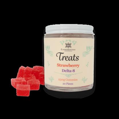 Delta 8 Gummies - 25mg 20 Gummies Strawberry Flavor